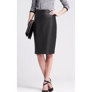Banana Republic Perforated Faux Leather Skirt
